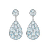​Blue Topaz Pear-Shaped Double Drop Earrings