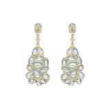 ​Blue Topaz Pear-Shaped Drop Earrings
