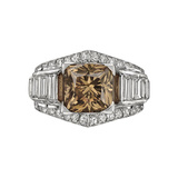 4.93 Carat Fancy Brown & White Diamond Ring