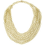 &quot;Honolulu&quot; 18k Gold Cascading Bib Necklace