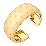 "18k Yellow Gold Engraved ""Losanghe"" Cuff Bracelet"
