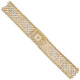 Agalmachron Diamond &amp; 18k Gold Bracelet Watch
