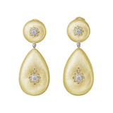 "18k Yellow Gold & Diamond ​""Classica"" Pendant Earrings"
