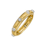 """Classica"" Thin 18k Gold & Diamond Band Ring"