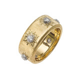 """Classica"" 18k Gold & Diamond Band Ring"