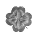 ​Medium Silver Clover Leaf Dish