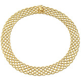 "18k Yellow Gold ""Crepe de Chine"" Necklace"