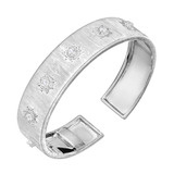 "18k White Gold & Diamond ""Classica"" Cuff Bracelet"