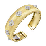 18k Gold &amp; Diamond Cuff Bracelet