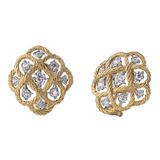 "18k Gold & Diamond ​""Etoilee"" Button Earrings"