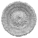 Extra Large Silver Anemone Flower Dish