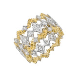 ​18k Gold & Diamond Openwork Band Ring
