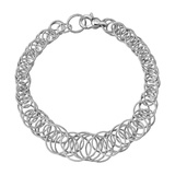 "​18k White Gold ​""Hawaii"" Link Bracelet"