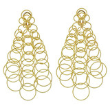 "18k Yellow Gold ""Hawaii"" Long Chandelier Earrings"