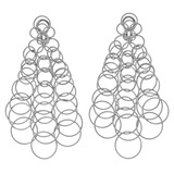 "​18k White Gold ​""Hawaii"" Long Chandelier Earrings"
