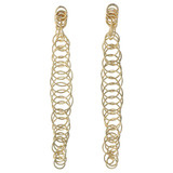 "18k Yellow Gold ​""Honolulu"" Long Drop Earrings"