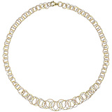 "18k Tricolored Gold ​""Honolulu"" Link Necklace"