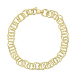 &quot;Honolulu&quot; 18k Gold Link Bracelet