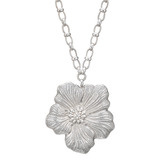 """Blossoms"" Silver Flower Pendant Necklace"
