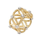 """Lucrezia"" 18k Gold & Diamond Band Ring"