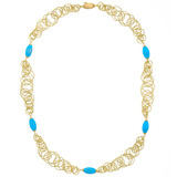 &quot;Maui&quot; 18k Gold Necklace with Turquoise