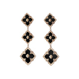"18k Pink Gold & Onyx ""Opera"" Pendant Earrings"