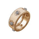 "18k Pink Gold & Diamond ​""Classica"" Band Ring"