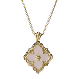 "18k Yellow Gold & Pink Opal ""Opera"" Pendant Necklace"