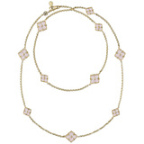 "​18k Yellow Gold & Pink Opal ""Opera"" Necklace"