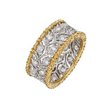 """Ramage"" 18k Gold & Diamond Foliate Band Ring"