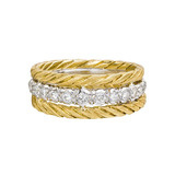 "18k Gold & Diamond ""Raso"" Band Ring"