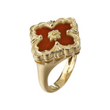 "18k Yellow Gold & Jasper ""Opera"" Ring"