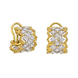 "​""Rombi"" 18k Gold & Diamond Hoop Earrings"