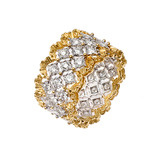 """Rombi"" 18k Gold & Diamond Band Ring"
