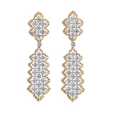 "18k Gold & Diamond ""Rombi"" Pendant Earrings"