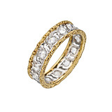 18k Gold &amp; Rose-Cut Diamond Band Ring