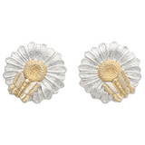 Silver & Gold Daisy Earrings