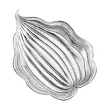 Large Silver Hosta Leaf Dish