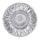 Large Silver Sunflower Dish