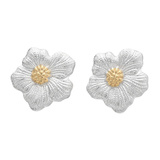 Silver & Gold Blossom Stud Earrings