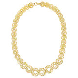 """Spirali"" 18k Gold Link Necklace"