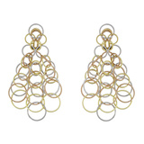 "18k Tricolored Gold ​""Hawaii"" Chandelier Earrings"