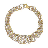 "​18k Tricolored Gold ​""Hawaii"" Link Bracelet"