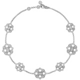 "18k White Gold & Diamond ""Opera"" Necklace"
