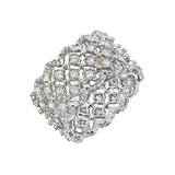 "​18k White Gold & Diamond ""Rombi"" Band Ring"