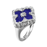 "​18k White Gold & Lapis ""Opera"" Ring"