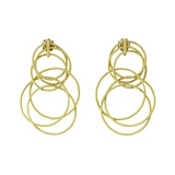 "18k Yellow Gold ""Hawaii"" Short Pendant Earrings"