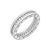 "​18k White Gold & Diamond ​""BZero1"" 1-Band Ring"