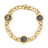 ​18k Gold & Ancient Coin Link Bracelet