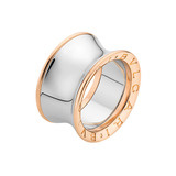 """Anish Kapoor"" B.Zero1 18k Pink Gold & Steel Band Ring"